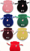 Wholesale 100pcs Velvet Jewelry packing pouches ring earrings pendant Bag Bundle gift Bags Size cm color