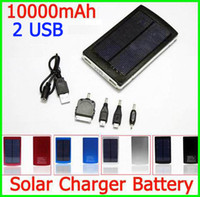 0-20 W panels - Portable mAH Solar Battery Panel external Charger Dual Charging Ports for Laptop Cellphone