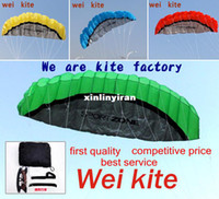 Wholesale High quality m Dual Line Stunt Parafoil Kite Power soft kite various colors choose wei kite factory
