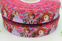 Wholesale 10 yards quot mm sofia princess the first printed grosgrain ribbon princess hairbow