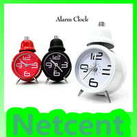 Alarm Clocks Quartz Analog Metal Retro Mini Metal Alarm Clock With Ring Clock Decoration Bedroom 3pcs lot #21045