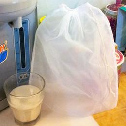 Wholesale Quality reusable nylon seed nut milk mesh bag tea juice herb raw food whole food brew wine tool filter strainer