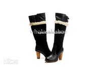 Wholesale 1 quality Cheap Best Women Snowboots Discount Australia Leather Boots Lady Knee Boot High Heels