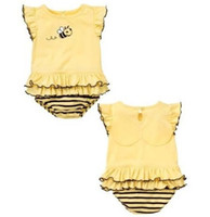 Girl bee romper - 2013 bees baby bodysuit baby clothes newborn one pieces romper babywear infant rompers jumpsuit overalls baby girls dress D35