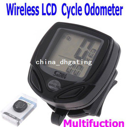Wholesale Without Battery Black Wireless LCD Cycle Computer Bicycle Bike Meter Speedometer Odometer