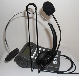 free shipping free Call center phone headset ; Caller ID phone Headphone System ; Call center phone