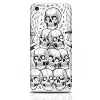 Wholesale Digital Print on Cool Phone Cases for Iphone s with Retail Packing Numbers of Skulls Scary Colorfastness Durable Phone Coverss
