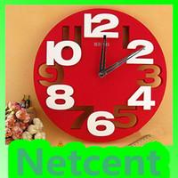 Other Circular Needle New Digital 3D Wall Clock Quiet Movement Creative Fashion Classic ABS Hollow Art Clock #10077