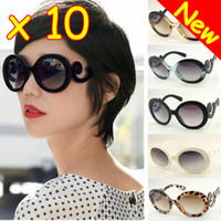 Wholesale OF NEW Retro inspired Women Butterfly Clouds Arms Semi Transparent Round Sunglasses