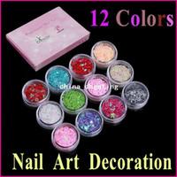 Nail Art 3D Decoration Nail Art Rhinestones 12 Colors 5 sets lot 12 Colors Nail Art Glitter Nail Art Acrylic Hollow Star Multi Design Decoration Tips Nail Tools Set ,Free Shipping