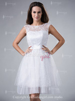 Reference Images Organza Scoop Hot Selling A-line White Lace and Organza Sexy Backless Cheap Pretty Juniors Homecoming Dresses Graduation Dress Cocktail Gown 2013 GD324