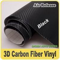 Wholesale M Black D Carbon Fiber Vinyl Wrap Air Release For Car Wrapping Film FedEx