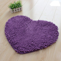 Wholesale Microfiber chenille Lovely heart shaped mat floor MATS x50cm