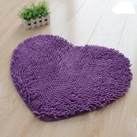 Wholesale Microfiber chenille Lovely heart shaped mat floor MATS x50cm