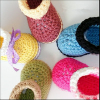 Baby crochet shoes snow booties assorted colors hallow- out d...