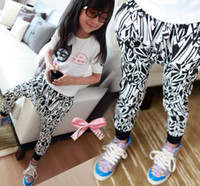 Wholesale girls fashion harem pants kids morden trousers popular costume children garment autumn clothing lcagmy