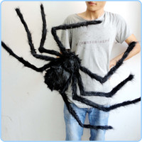 halloween spider - Halloween party decoration cm black spider haunted house bar ornament supplies Halloween prop joke Toys