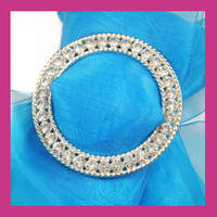 Wholesale 2016NEW crystal round rhinestone buckle for ribbon