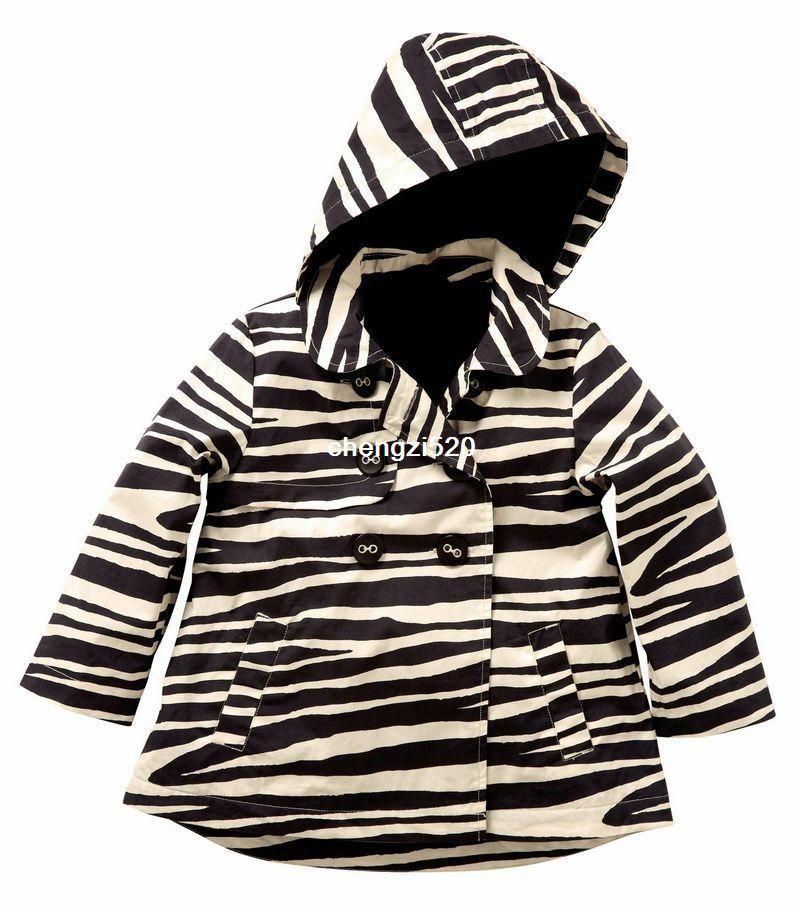 New Next Baby Zebra CoatGirls Zebra Wind CoatKids Fleece Coats
