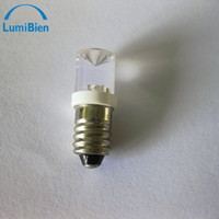 Wholesale 2pc e10 led v power super flux led bulbs Screw lamp car auto lamps interior side lights automotive instrument lighting