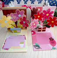 Wholesale Mini D greeting card patterns mixed birthday card wishing card love heart card party supplies flower card thank you card with envelope