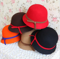 Wholesale Baby s Autumn Winter Korean Style Party Hat Years Girls Red Khaki Camel Fashion Hat