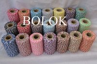 Christmas bakers free shipping - 50pcs thin ply Bakers twine Yards spool divine twine DIY bakers twine kinds color wholesales by
