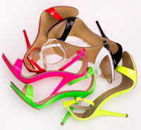 Wholesale New arrived Vogue Color women T stage Clasic Dancing High Heel Sandals party wedding shoes and retail