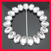 Wholesale 100pcs mm Inner Acrylic Chair Sash Rhineston Buckle Large Round Rhinestone Belt Buckle For Wedding Decoration