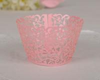 cupcake liners - Rose pink Filgree Vine Cupcake Wrappers Wedding Birthday Baby Shower cupcake Liners