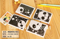 Copier Paper journal and notebook - New cute black and white star panda design A7 DIY diary book Lovely journals notebooks