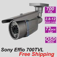Wholesale cheap Sony effio TVL mm zoom lens IR CCTV outdoor waterproof security surveillance bullet video camera install system