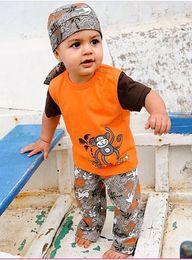 Wholesale 2013 Brand New summer paragraph monkey summer models three piece boys suits set clothe