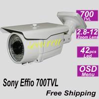 al por mayor mejores sistemas de cámara de seguridad exterior-Mejor venta CCD Sony Effio barata sistema 700TVL lente de zoom CCTV IR de interior cámara al aire libre impermeable de seguridad de vídeo vigilancia instalar
