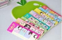 Wholesale Retail Korea stationery sticker biscuits girl sticky pad Cute cartoon bobo little girl Notepad Memo Paper sticky note pad Gift