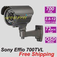 al por mayor mejor sistema de cctv del hogar-Gratis envío mejor calidad cctv sistema seguro instalar Sony 700TVL IR cctv vigilancia monitor de vídeo cámara negocio casa seguridad