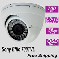 Envío libre cámara domo grande IR de Sony 700TVL a prueba de vandalismo sistema de vigilancia de la seguridad interior del hogar cctv instalación de vídeo digital de la cámara del monitor