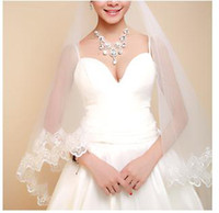 Ribbon Edge big beautiful brides - beautiful bridal veils Thousands of colors the bride Loving shadows retro big lace long veil