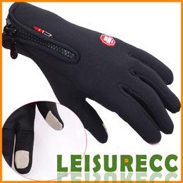 Wholesale Outdoor Weatherization Windproof Gloves Riding Full finger Touchscreen Gloves Black Warm Ski Gloves HW0010