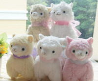 Wholesale sheep plush dolls cute friend for children soft plush alpaca with tags colors Toy