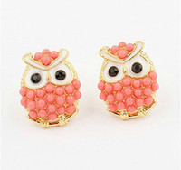 Wholesale Pearl Stud Earring Owl Earring New Arrival Cute Fashion Jewelry