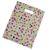 plastic tote - 50x colorful dot pattern extremely thick reusable plastic totes shopping bags for gift clothes cm SP228
