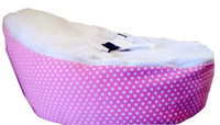 Wholesale hot sale doomoo baby beanbag baby seat pink white dots baby chair baby bed