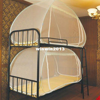 other bunk bed - Mini house automatic folding mosquito net student single bed bunk beds bunk bed fan