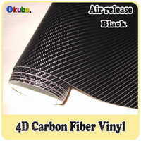 Wholesale m roll High Quality Black D carbon Fibre Vinyl Film For Car Wrapping Car Stickers Air Release