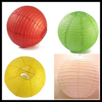 Lantern Holiday PL7223 Lantern Lights 12inch 30cm Chinese White Paper Lanterns Hanging Outdoor Party Supplies Decorations Wedding Patio Garden Lanterns Promotional