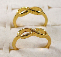 HOT 40pcs lot Gold plated One direction rings infinity rings letter 8 rings wholesale fashion jewelry lots