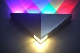 Wholesale 5W LED Aluminum Wall Lamp LED Corridor Light Balcony Lights Aisle Lamps AC85 V Triangle MYY5069