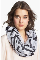 Wholesale Toss Across Infinity Scarf Woman Cross Printed Scarf Infinity Scarves
