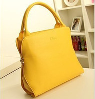 Women Plain PU 2013 Women shoulder bag 100% designer handbags Sale retro big bags 3color